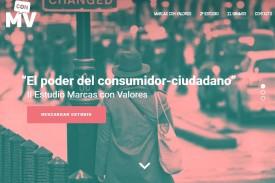 Captura de imagen del sitio web 'Marcas con valores'