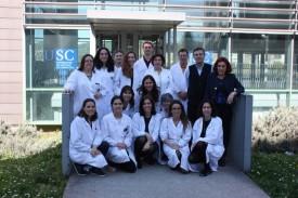 O grupo de investigación de María Alicia Costa Besada  - FOTO: USC