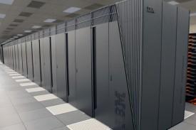 Imagen de archivo de una supercomputadora