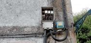 Caja de fusibles de la luz al aire y sin protección