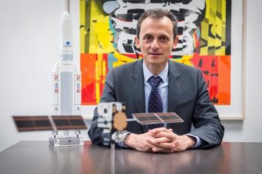 El Ministro de Ciencia y Universidades, Pedro Duque, durante la entrevista concedida a EFE. - FOTO: Fernando Villar/Efe