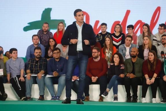 Pedro Sánchez en un acto en Marbella. - FOTO: Alex Zea