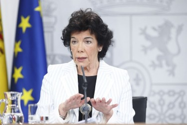 La ministra de Educación, Isabel Celaá tras la reunión del Consejo de Ministros del pasado 7 de diciembre. - FOTO: Eduardo Parra / Europa Press