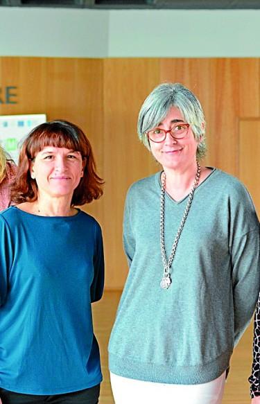 CIENTÍFICAS Noemí Csaba, desde la izquierda, Carmen Rivas, Celia Pombo y Clara Álvarez, las cuatro investigadoras en el CIMUS
