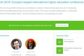 La 31 edición de la Asociación Europea de Educación Internacional se celebra este año en Helsinki - FOTO: (EAIE