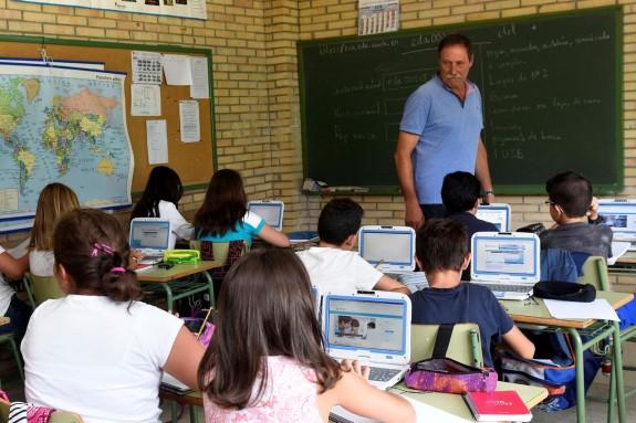 Foto de archivo de un aula del CEIP Pérez Viondi, de A Estrada. - FOTO: SANGIAO