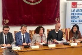 El ministro de Ciencia en funciones, Pedro Duque, ha participado en una jornada informativa sobre el próximo Programa Marco de Investigación de la UE en la Universidad de Granada  - FOTO: UGR