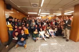 Estudiantes visitan una exposición en la Delegación del Gobierno  - FOTO: DELEGACIÓN DEL GOBIERNO