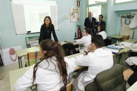 La conselleira de Educación, Carmen Pomar, en Ferrol. - - FOTO: XUNTA