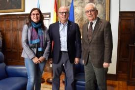 Ana Villarino, Manuel Baltar y José Luis Rodríguez, en el Pazo Provincial. - FOTO: D.O.