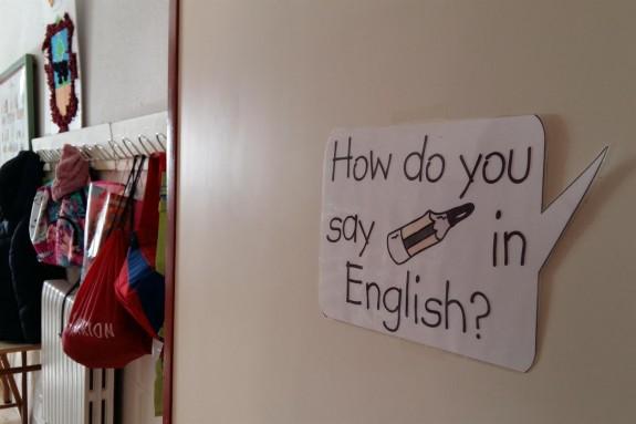 Aula de inglés en un colegio   - FOTO: E.P.