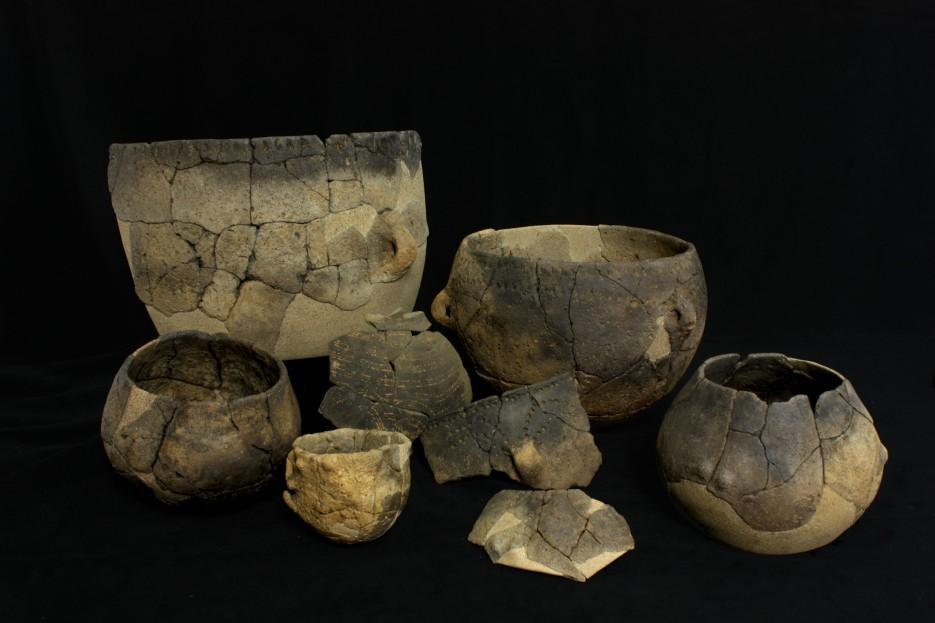 Cerámica do xacemento arqueolóxico de Verson (Francia) .  - FOTO: Annabelle Cocollos