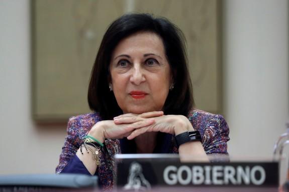Margarita Robles, na Comisión de Defensa.  - FOTO: Kiko Huesca