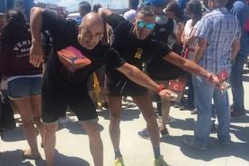 Los dos deportistas que el próximo mes de agosto intentarán cruzar los 20 kilómetros que separan A Coruña de la Praia da Madalena, en Cabanas, como homenaje a quienes no pudieron ser velados por el coronavirus.