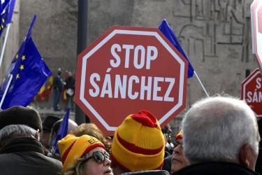 Concentración convocada por PP, Ciudadanos y VOX en Madrid